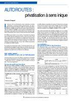 AUTOROUTES :  privatisation à sens inique