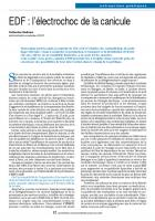 EDF : l'électrochoc de la canicule