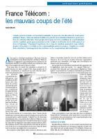 France Télécom : les mauvais coups de l'été