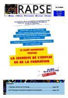 Lettre du Rapse N°134 - 12 mai 2016