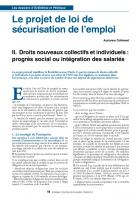 Le projet de loi de sécurisation de l'emploi : 2ème partie