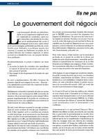 Le gouvernement doit  négocier sur un autre projet  de réforme