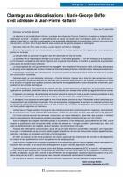 Chantage aux délocalisations : Marie-George Buffet s'est adressée à Jean-Pierre Raffarin