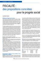 Fiscalité :  des propositions concrètes  pour le progrès social