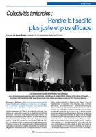 Collectivités territoriales : Rendre la fiscalité plus juste et plus efficace