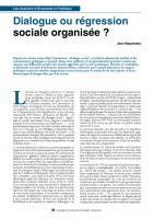 Dialogue ou régression sociale organisée ?