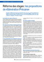 Réforme des stages:  les propositions de