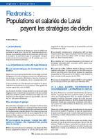 Flextronics : Populations et salariés de Laval payent les stratégies de déclin