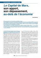Le Capital de Marx, son apport, son dépassement,  au-delà de l'économie (1) par P. Boccara