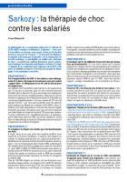 Sarkozy : la thérapie de choc contre les salariés