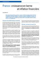 France : croissance en berne  et inflation financière