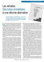 Retraites. Des luttes immédiates à une réforme alternative