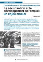 La sécurisation et le développement de l'emploi : un enjeu crucial