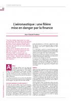 L'aéronautique : une filière mise en danger par la finance