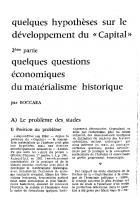 Quelques questions économiques du matérialisme historique. Mars 1961