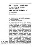 La crise du capitalisme   monopoliste d'Etat   et les luttes des travailleurs (fin). Mars 1970