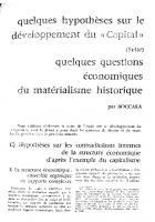 Quelques questions économiques du matérialisme historique