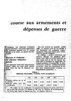 Course aux armements  et  dépenses de guerre. Avril 1962