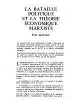 La bataille politique   et   la théorie   économique marxiste