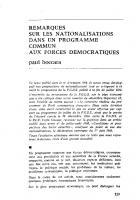 Remarques sur les  nationalisations, dans un  programme commun  aux forces démocratiques . 09-10/69