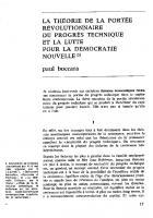 La priorité de la portée  révolutionnaire du  programme technique  et la lutte pour la  démocratie nouvelle. Sept 1968
