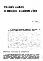 Armements gaullistes  et  capitalisme monopoliste d'état. ND 1962