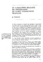 Remarques sur les  nationalisations, dans un  programme commun  aux forces démocratiques. Dec 1966- Janv 67.