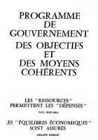 Programme de  gouvernement  Des objectifs et des moyens  cohérents