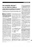 Une rentabilité réformée,  ou  une mixité de critères  à prépondérance  publique et sociale ?