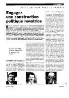 Pacte unitaire pour le progrès  Engager une construction  politique novatrice
