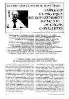 Le CNPF dans la bataille   électorale :    amplifier la politique du   gouvernement socialiste   de gâchis capitalistes