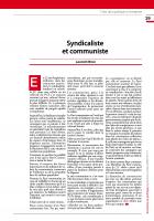 Syndicaliste et communiste