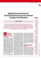 Égalité femmes hommes : Du levier financier pour les retraites à l'enjeu de civilisation