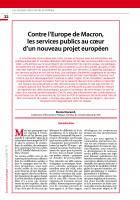 Contre l'Europe de Macron, les services publics au cœur d'un nouveau projet européen (colloque)