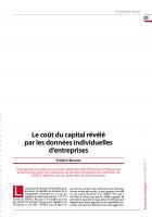 Le coût du capital révélé  par les données individuelles d'entreprises