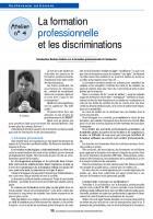 CR atelier Formation professionnelle discriminations