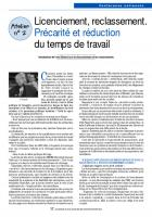 CR atelier Licenciement reclassement précarité RTT
