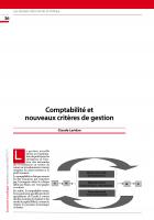 Comptabilité et nouveaux critères de gestion