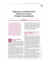 Dépenses et prélèvements publics et sociaux : changer de paradigme