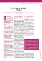 Le programme de F. Fillon