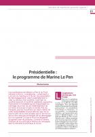 Présidentielle : le programme de Marine Le Pen