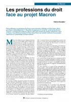 Les professions du droit face au projet Macron