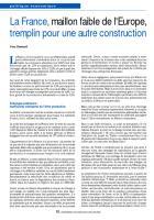 La France, maillon faible de l'Europe, tremplin pour une autre construction