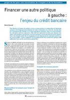 Financer une autre politique à gauche : l'enjeu du crédit bancaire et l'enjeu européen