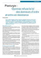 Plasturgie :  industrie Oyonnax refuse la loi des donneurs d'ordre et entre en résistance