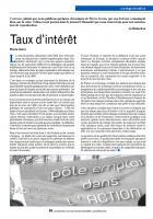Taux d'intérêt - Chronique de Pierre Ivorra