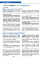 Crise financière, Fiche 3 - : Pourquoi refuser l'union sacrée demandée par Sarkozy ?