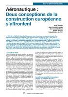 Aéronautique :  Deux conceptions de  l'Europe s'affrontent