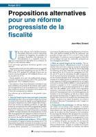 Propositions alternatives pour une réforme  progressiste de la fiscalité