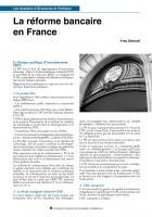 La réforme bancaire en France